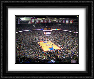The Palace of Auburn Hills 24x20 Black or Gold Ornate Framed and Double Matted Art Print by Stadium Series