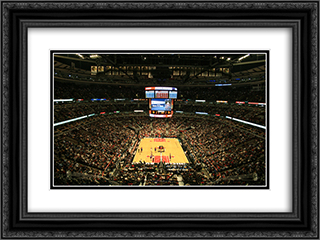 United Center 24x18 Black or Gold Ornate Framed and Double Matted Art Print by Stadium Series