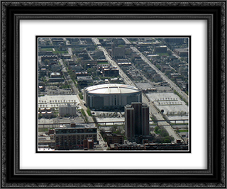 United Center 24x20 Black or Gold Ornate Framed and Double Matted Art Print by Stadium Series