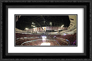 United Center 24x16 Black or Gold Ornate Framed and Double Matted Art Print by Stadium Series