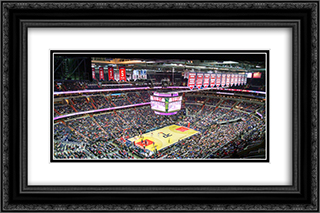 Verizon Center 24x16 Black or Gold Ornate Framed and Double Matted Art Print by Stadium Series