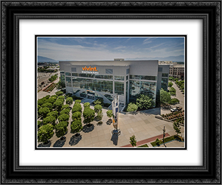 Vivint Smart Home Arena 24x20 Black or Gold Ornate Framed and Double Matted Art Print by Stadium Series