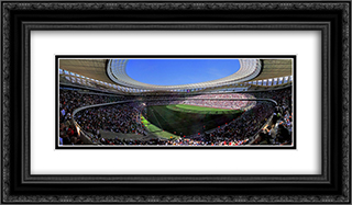 Cape Town Stadium 24x14 Black or Gold Ornate Framed and Double Matted Art Print by Stadium Series