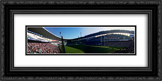 Sydney Football Stadium 24x12 Black or Gold Ornate Framed and Double Matted Art Print by Stadium Series