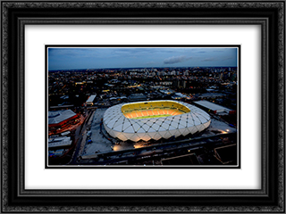 Arena Amazonas 24x18 Black or Gold Ornate Framed and Double Matted Art Print by Stadium Series