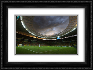 Estadio Nacional Mane Garrincha 24x18 Black or Gold Ornate Framed and Double Matted Art Print by Stadium Series