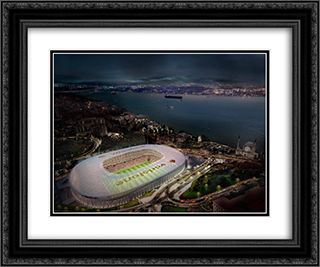 Vodafone Arena 24x20 Black or Gold Ornate Framed and Double Matted Art Print by Stadium Series
