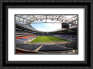 Hannover Stadium 24x18 Black or Gold Ornate Framed and Double Matted Art Print by Stadium Series