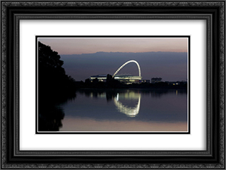 Wembley Stadium 24x18 Black or Gold Ornate Framed and Double Matted Art Print by Stadium Series