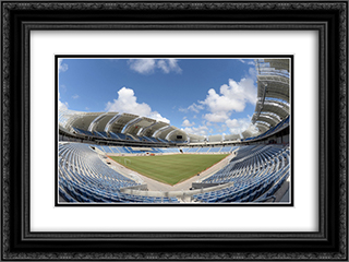 The Estadio das Dunas 24x18 Black or Gold Ornate Framed and Double Matted Art Print by Stadium Series