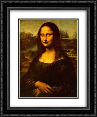 Mona Lisa 20x24 Black or Gold Ornate Framed and Double Matted Art Print by Leonardo Da Vinci