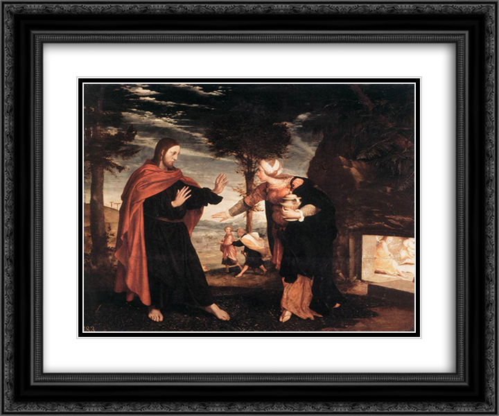 Do Not Touch Me 24x20 Black or Gold Ornate Framed and Double Matted Art Print by Hans Holbein the Younger