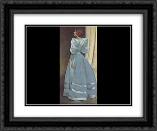 Gray Portrait 24x20 Black or Gold Ornate Framed and Double Matted Art Print by John White Alexander