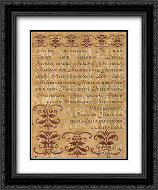 ABC's of Life 2x Matted 15x18 Black Ornate Framed Art Print by Debbie DeWitt