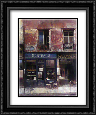 Bertrand 2x Matted 11x13 Black Ornate Framed Art Print by Chiu tak Hak