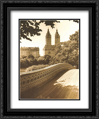 Central Park Bridges I 2x Matted 15x18 Black Ornate Framed Art Print by Chris Bliss