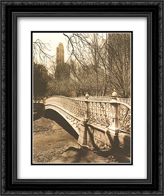 Central Park Bridges II 2x Matted 15x18 Black Ornate Framed Art Print by Chris Bliss