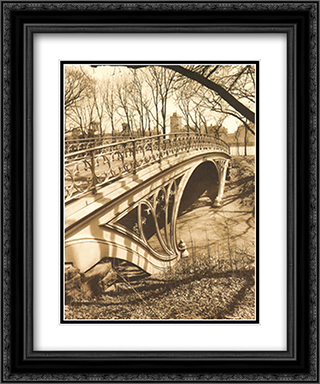 Central Park Bridges III 2x Matted 15x18 Black Ornate Framed Art Print by Chris Bliss
