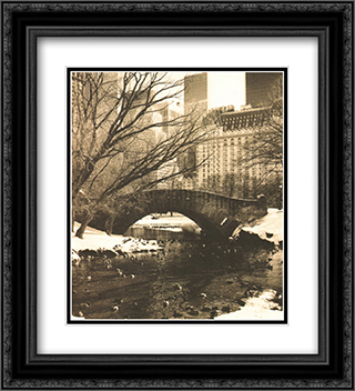 Central Park Bridges IV 2x Matted 15x18 Black Ornate Framed Art Print by Chris Bliss