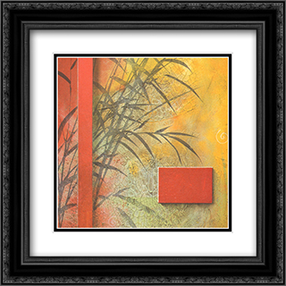 Spa Inspirations IV 2x Matted 9x9 Black Ornate Framed Art Print by Don Li Leger