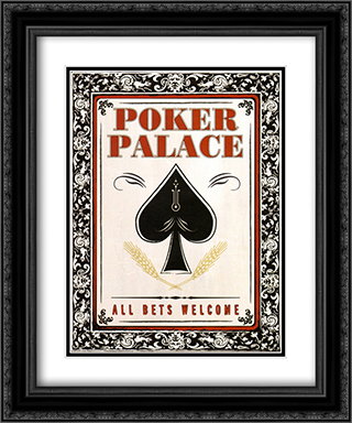 Poker Palace 2x Matted 15x18 Black Ornate Framed Art Print