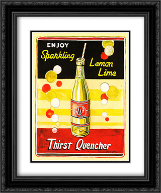 Lemon Lime 2x Matted 15x18 Black Ornate Framed Art Print by Gregory Gorham