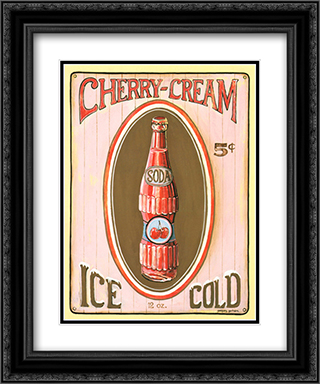 Cherry Cream 2x Matted 15x18 Black Ornate Framed Art Print by Gregory Gorham