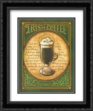 Irish Coffee 2x Matted 15x18 Black Ornate Framed Art Print by Gregory Gorham