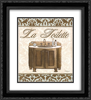 Modern Sink 2x Matted 12x14 Black Ornate Framed Art Print by Todd Williams