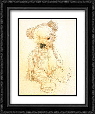 Teddy 2x Matted 14x16 Black Ornate Framed Art Print by Ralph Steadman