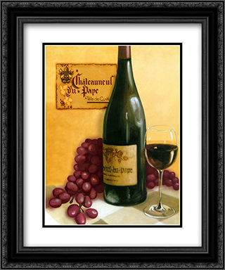 Chaleauneuf Du Pape 2x Matted 15x18 Black Ornate Framed Art Print by David Marrocco
