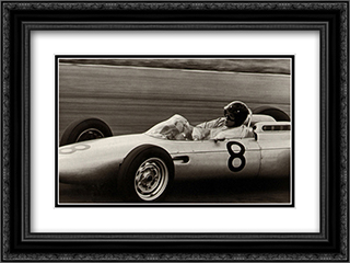 Dutch Grand Prix, 1962 2x Matted 18x15 Black Ornate Framed Art Print by Jesse Alexander
