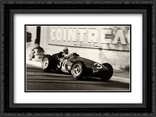 Grand Prix of Monaco, 1956 2x Matted 18x15 Black Ornate Framed Art Print by Jesse Alexander