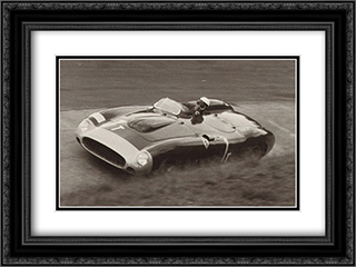 Nurburgring 1000k, 1956 2x Matted 18x15 Black Ornate Framed Art Print by Jesse Alexander
