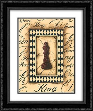Chess King 2x Matted 12x14 Black Ornate Framed Art Print by Gregory Gorham