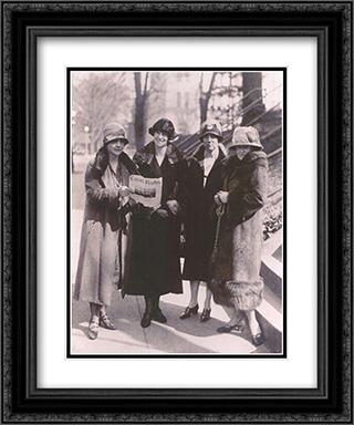 Equal Rights 2x Matted 15x18 Black Ornate Framed Art Print by Riccardo Bianchi