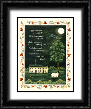 Thank God 2x Matted 15x18 Black Ornate Framed Art Print by Donna Atkins