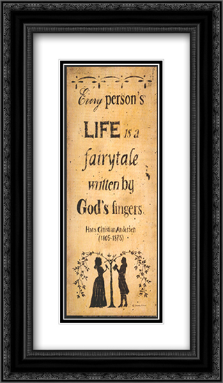 God's Fairytale 2x Matted 8x14 Black Ornate Framed Art Print by Donna Atkins
