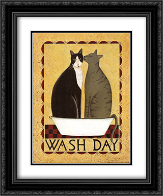 Wash Day 2x Matted 15x18 Black Ornate Framed Art Print by Dotty Chase
