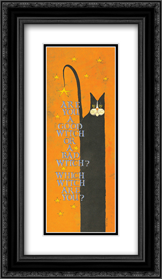Which, Witch? 2x Matted 9x16 Black Ornate Framed Art Print by Lisa Hilliker