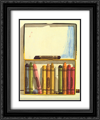 Crayon Box II 2x Matted 15x18 Black Ornate Framed Art Print by David Brega