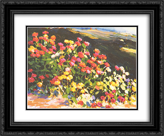 Bright Spot 2x Matted 18x15 Black Ornate Framed Art Print by Phyllis Horne