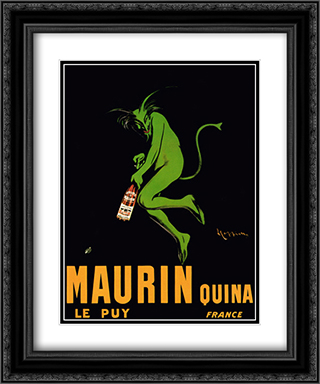 Maurin Quina 1920 2x Matted 15x18 Black Ornate Framed Art Print by Leonetto Cappiello