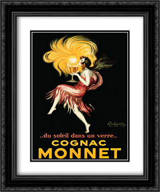 Cognac Monnet 2x Matted 15x18 Black Ornate Framed Art Print by Leonetto Cappiello