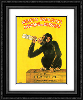 Liquore Da Dessert 2x Matted 15x18 Black Ornate Framed Art Print