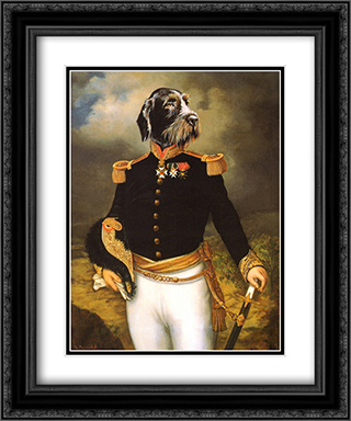 Ceremonial Dress 2x Matted 15x18 Black Ornate Framed Art Print by Thierry Poncelet