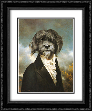 Gavroche 2x Matted 15x18 Black Ornate Framed Art Print by Thierry Poncelet