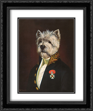 Officer's Mess 2x Matted 15x18 Black Ornate Framed Art Print by Thierry Poncelet