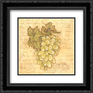Grapes IV 2x Matted 12x12 Black Ornate Framed Art Print by Stephanie Marrott