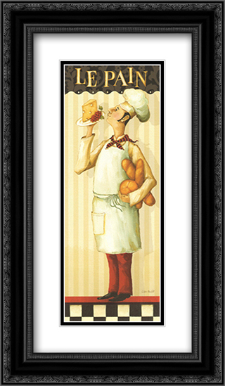 Chef's Masterpiece III 2x Matted 8x16 Black Ornate Framed Art Print by Lisa Audit